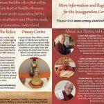 Buddhas Relics Inauguration Invite page 2